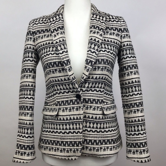 Banana Republic Jackets & Blazers - Banana Republic Black White Blazer Fitted Size 00